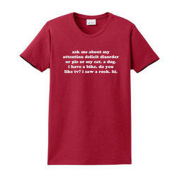 Ask Me About My Adhd Quote Ladies Classic T-shirt Designed By Jomadado