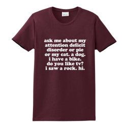 Attention Deficit Disorder Quote Ladies Classic T-shirt Designed By Jomadado
