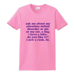 Funny Adhd Quote Ladies Classic T-shirt Designed By Jomadado