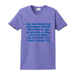 Adhd Humorous Quote Ladies Classic T-shirt Designed By Jomadado