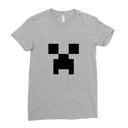 Creeper   Minecraft Ladies Fitted T-shirt Designed By Asatya
