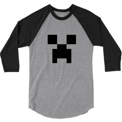 Creeper   Minecraft 3/4 Sleeve Shirt Designed By Asatya