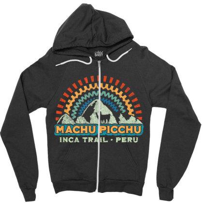 Machu Picchu Retro Llama Zipper Hoodie Designed By Kakashop