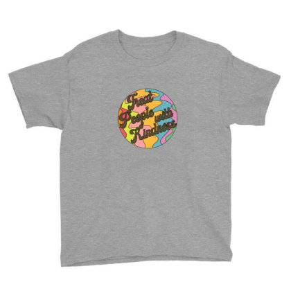 Groovy Treat 'em With Kindness Design Youth Tee Designed By Asatya