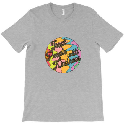 Groovy Treat 'em With Kindness Design T-shirt Designed By Asatya