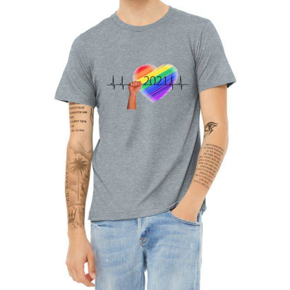 Pulse Frequency Heather T-shirt Designed By Chiks