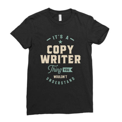 Copy Writer Job Title Men Women Gift Ladies Fitted T-shirt Designed By Cidolopez