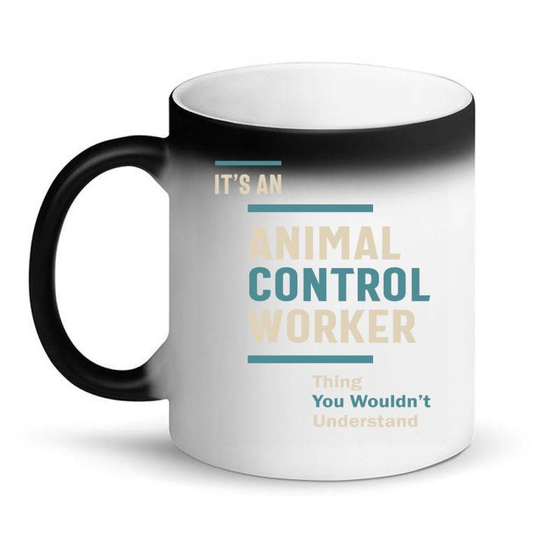 Animal Control Worker Job Title Men Women Gift Magic Mug   Artistshot