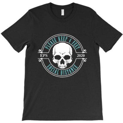 Social Distance Skull T-shirt Designed By Designisfun