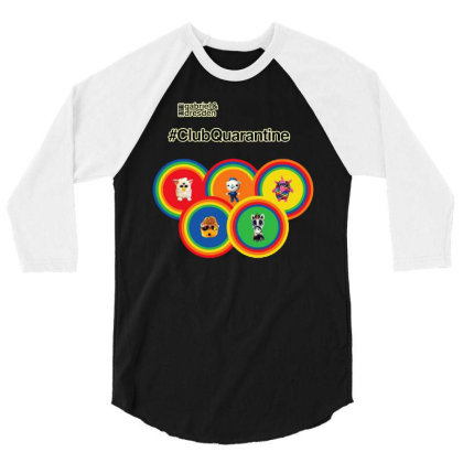 Gabriel & Dresden The Rainbow Family 3/4 Sleeve Shirt Designed By Wuzztees