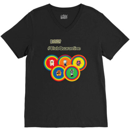 Gabriel & Dresden The Rainbow Family V-neck Tee Designed By Wuzztees