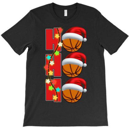 Basketball Ho Ho Ho T-shirt Designed By Badaudesign