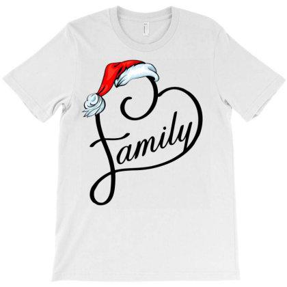Santa Family Heart T-shirt Designed By Badaudesign