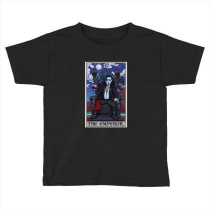 The Emperor Tarot Card Halloween Bram Stoker Count Dracula Toddler T-shirt Designed By Liquegifts