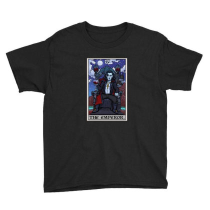 The Emperor Tarot Card Halloween Bram Stoker Count Dracula Youth Tee Designed By Liquegifts