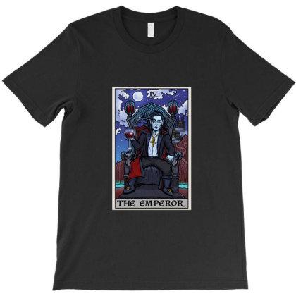 The Emperor Tarot Card Halloween Bram Stoker Count Dracula T-shirt Designed By Liquegifts