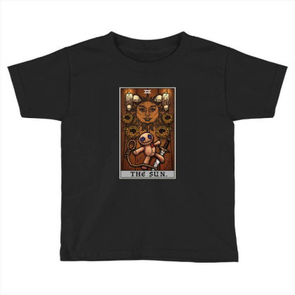 The Sun Tarot Card Halloween Voodoo Doll Witch Altar Toddler T-shirt Designed By Liquegifts