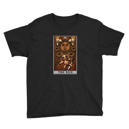 The Sun Tarot Card Halloween Voodoo Doll Witch Altar Youth Tee Designed By Liquegifts