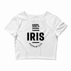 Iris Personalized Name Birthday Gift Crop Top | Artistshot
