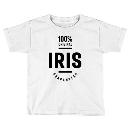 Iris Personalized Name Birthday Gift Toddler T-shirt Designed By Cidolopez