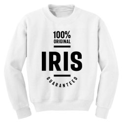Iris Personalized Name Birthday Gift Youth Sweatshirt | Artistshot