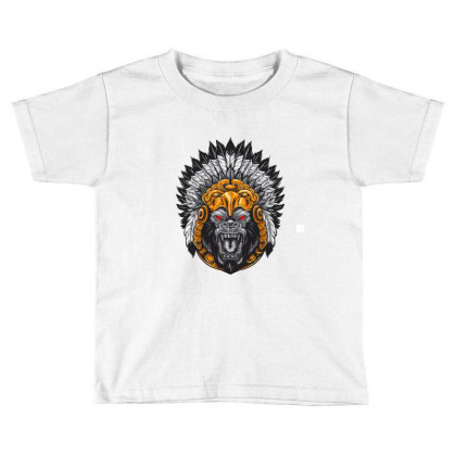 American Indian Gorila Toddler T-shirt Designed By Chiks