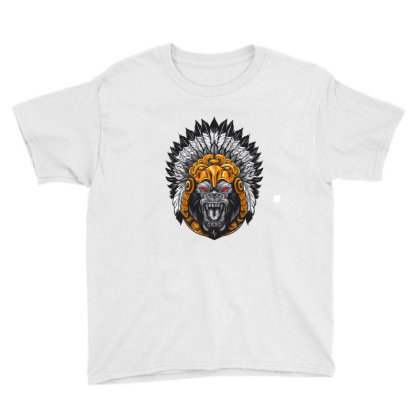 American Indian Gorila Youth Tee Designed By Chiks