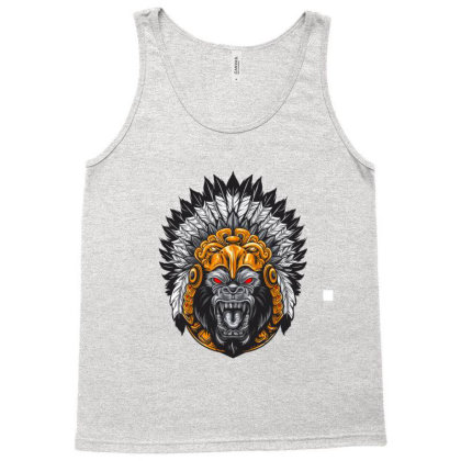 American Indian Gorila Tank Top Designed By Chiks