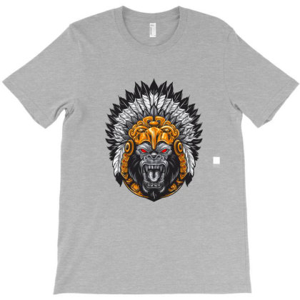 American Indian Gorila T-shirt Designed By Chiks