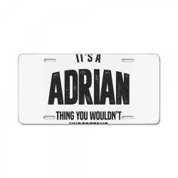 Adrian License Plate | Artistshot