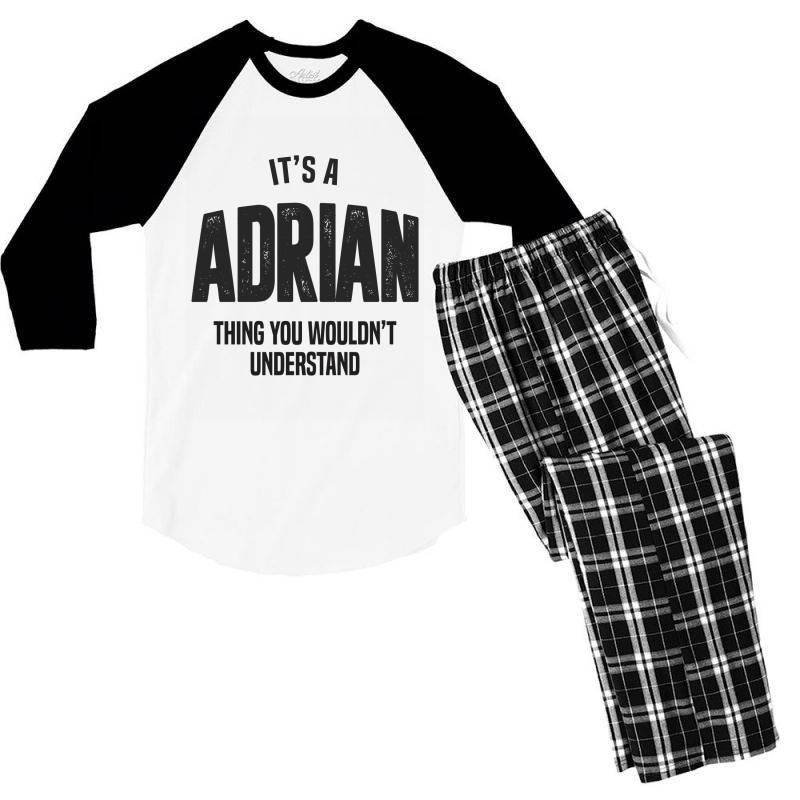 Adrian Men's 3/4 Sleeve Pajama Set | Artistshot