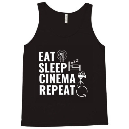 Cinema White Tank Top Designed By Perfect Designers