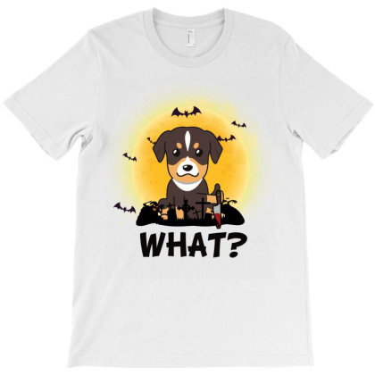 What! Halloween Dog What Funny Killer Dog Halloween Costume T-shirt Designed By Vip.pro123