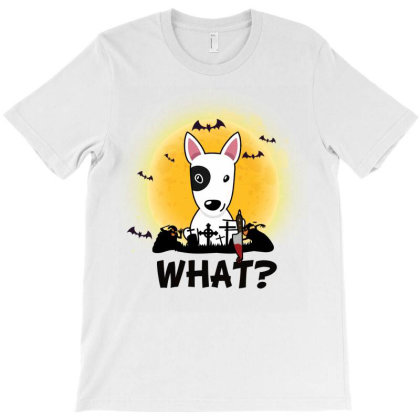 What! Halloween What Funny Killer Dog Halloween Costume T-shirt Designed By Vip.pro123