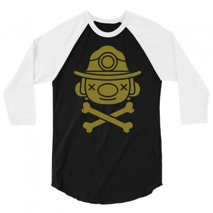 Spelunky   Miner 3/4 Sleeve Shirt Designed By Mdk Art