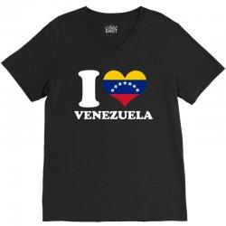 i love venezuela flag with seven stars V-Neck Tee | Artistshot