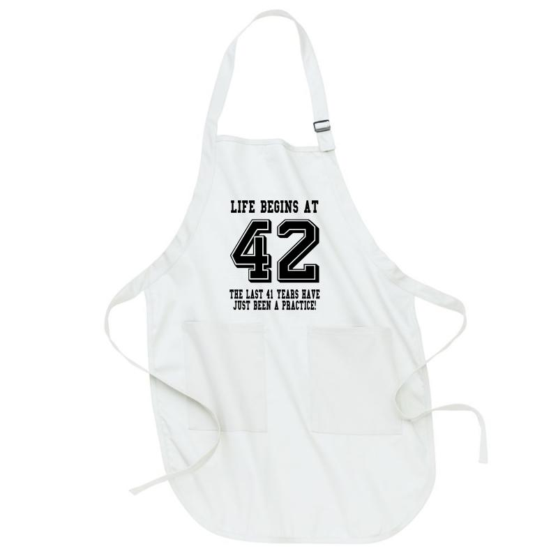 42nd Birthday Life Begins At 42 Full-length Apron | Artistshot