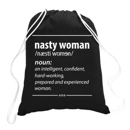 Nasty Woman Noun Drawstring Bags Designed By Conco335@gmail.com