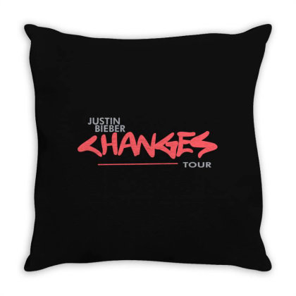 Justin Bieber   Changes Throw Pillow Designed By Duke890909