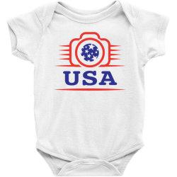 Photographers of the United States creative unique icon Baby Bodysuit | Artistshot
