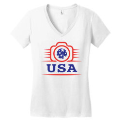 Photographers of the United States creative unique icon Women's V-Neck T-Shirt | Artistshot
