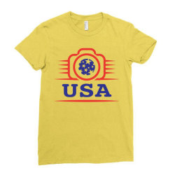 Photographers of the United States creative unique icon Ladies Fitted T-Shirt | Artistshot