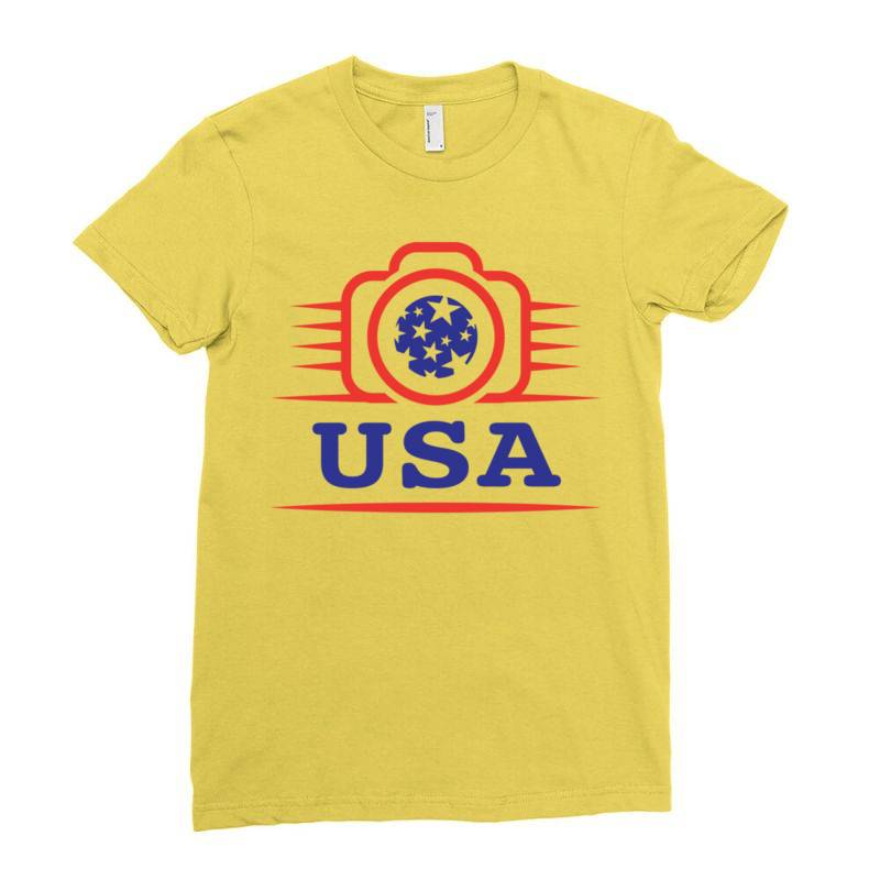 Photographers Of The United States Creative Unique Icon Ladies Fitted T-shirt   Artistshot
