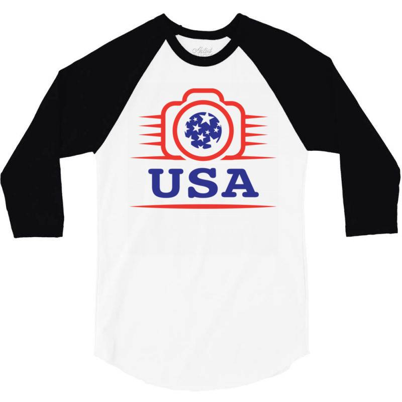 Photographers Of The United States Creative Unique Icon 3/4 Sleeve Shirt | Artistshot