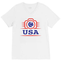 Photographers of the United States creative unique icon V-Neck Tee | Artistshot