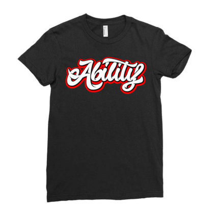 Ability Ladies Fitted T-shirt Designed By Lisart