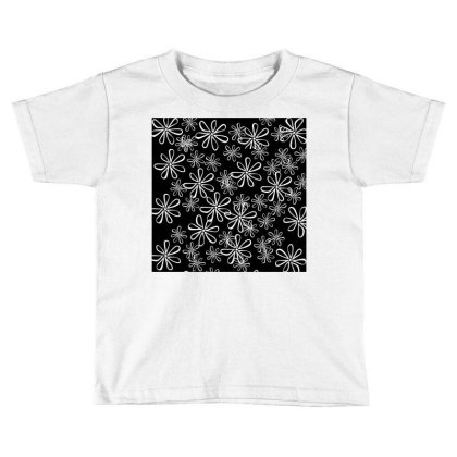 Chalk Floral Seamless Pattern Toddler T-shirt Designed By American Choice