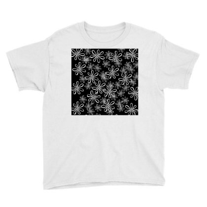 Chalk Floral Seamless Pattern Youth Tee Designed By American Choice