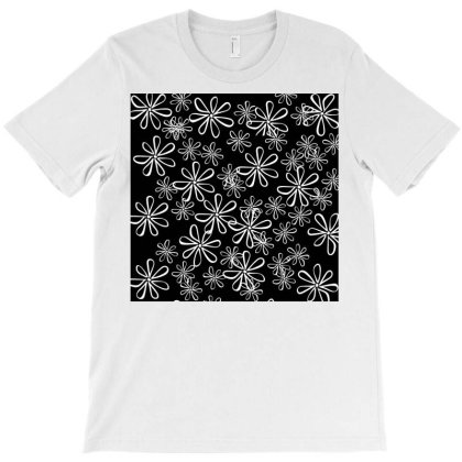 Chalk Floral Seamless Pattern T-shirt Designed By American Choice
