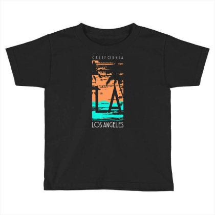 California Los Angeles With Palm Toddler T-shirt Designed By Lisart
